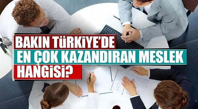 TÜRKİYE'DE EN ÇOK KAZANAN MESLEKLER